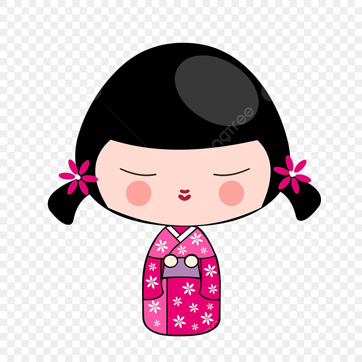 Japanese Kimono Grafico De Vetor Desenhos Animados Engracados