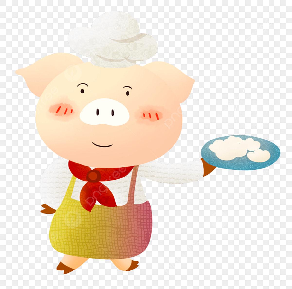 mme cochon cuisinier cuisinier cuisiner dans la cuisine