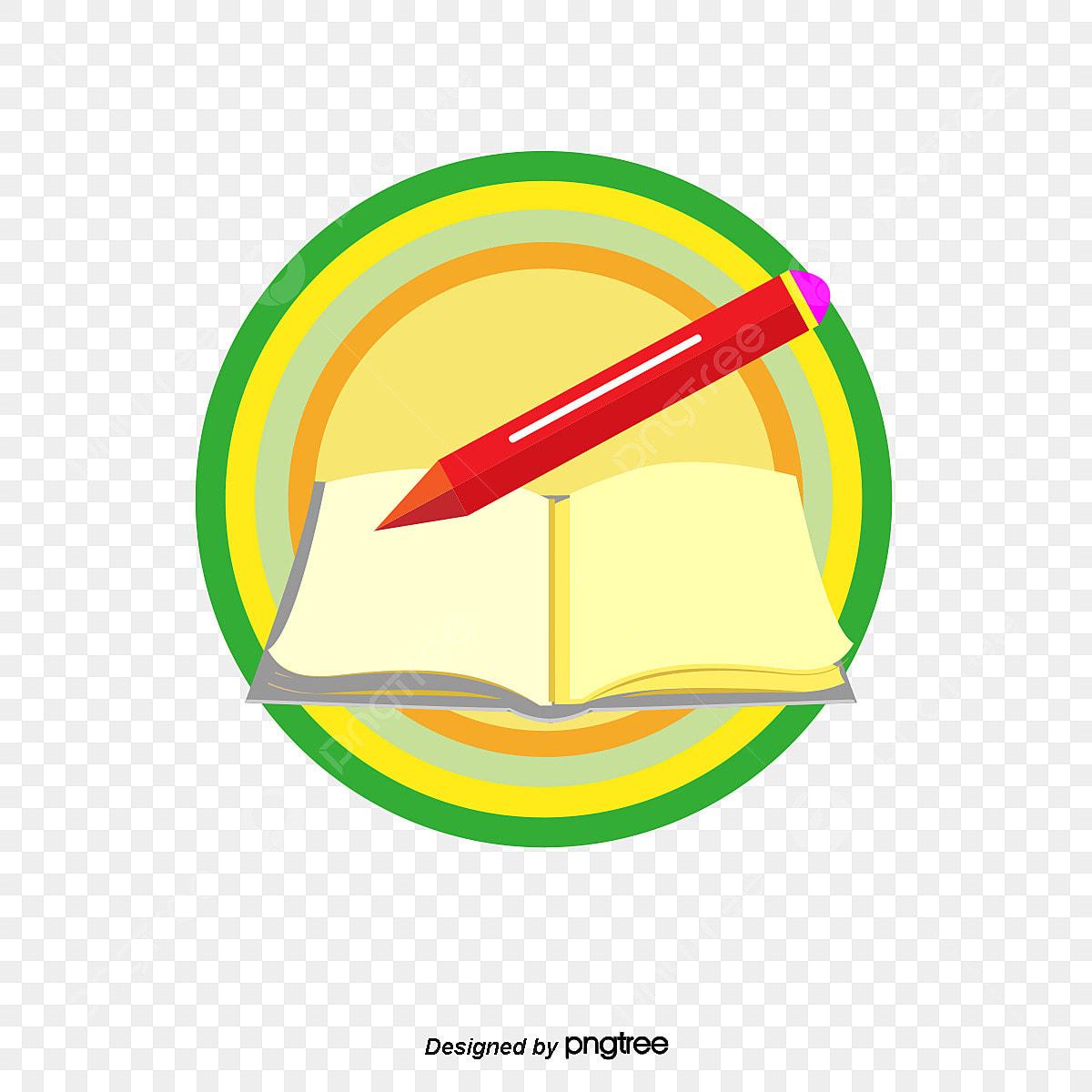 Stylo Plume Et Des Livres De La Conception De Logo Livre