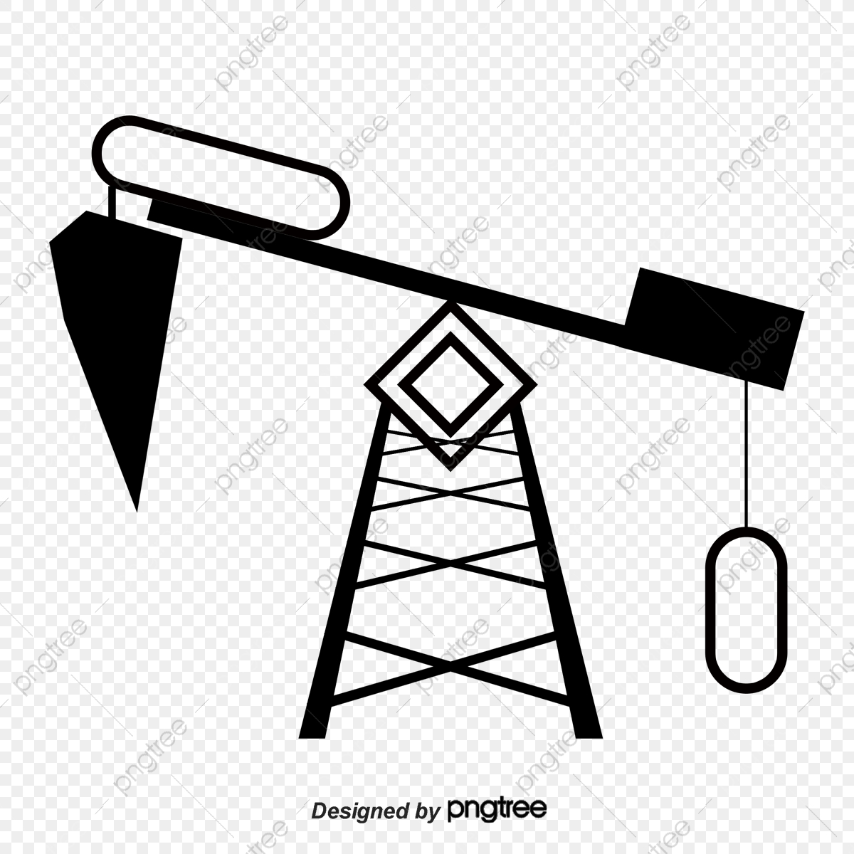 Transparent Drilling Rig Clipart - Cartoon Oil Rig Png, Png Download - vhv