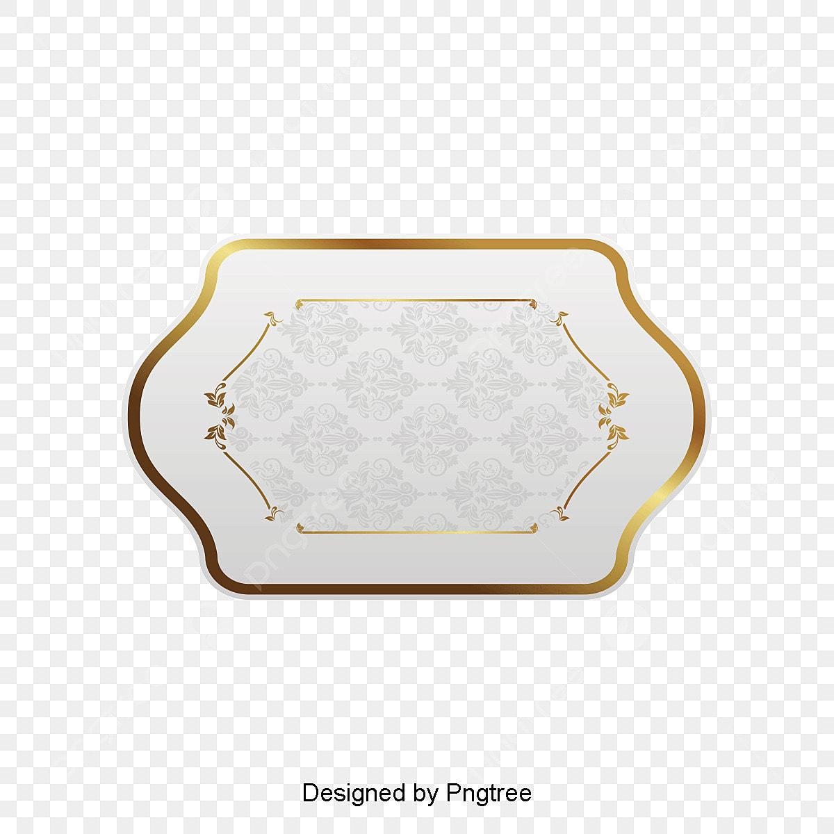 cadre en papier dor u00e9 papier graphique de vecteur limite