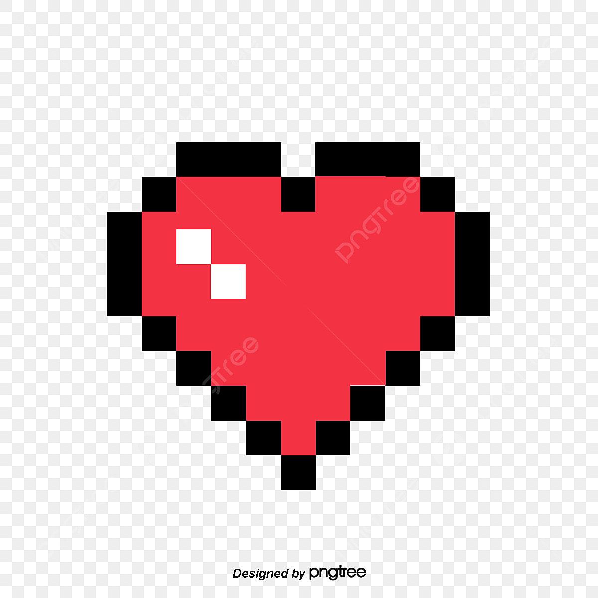 Les Pixels De Lamour Rouge De Lamour La Créativité De L