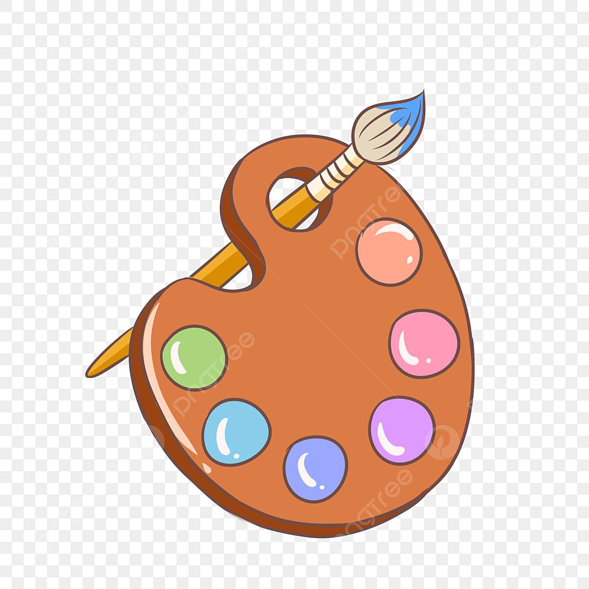 無料ダウンロードのための虹色の絵の具 や筆係 ペンキ カラーpng画像素材