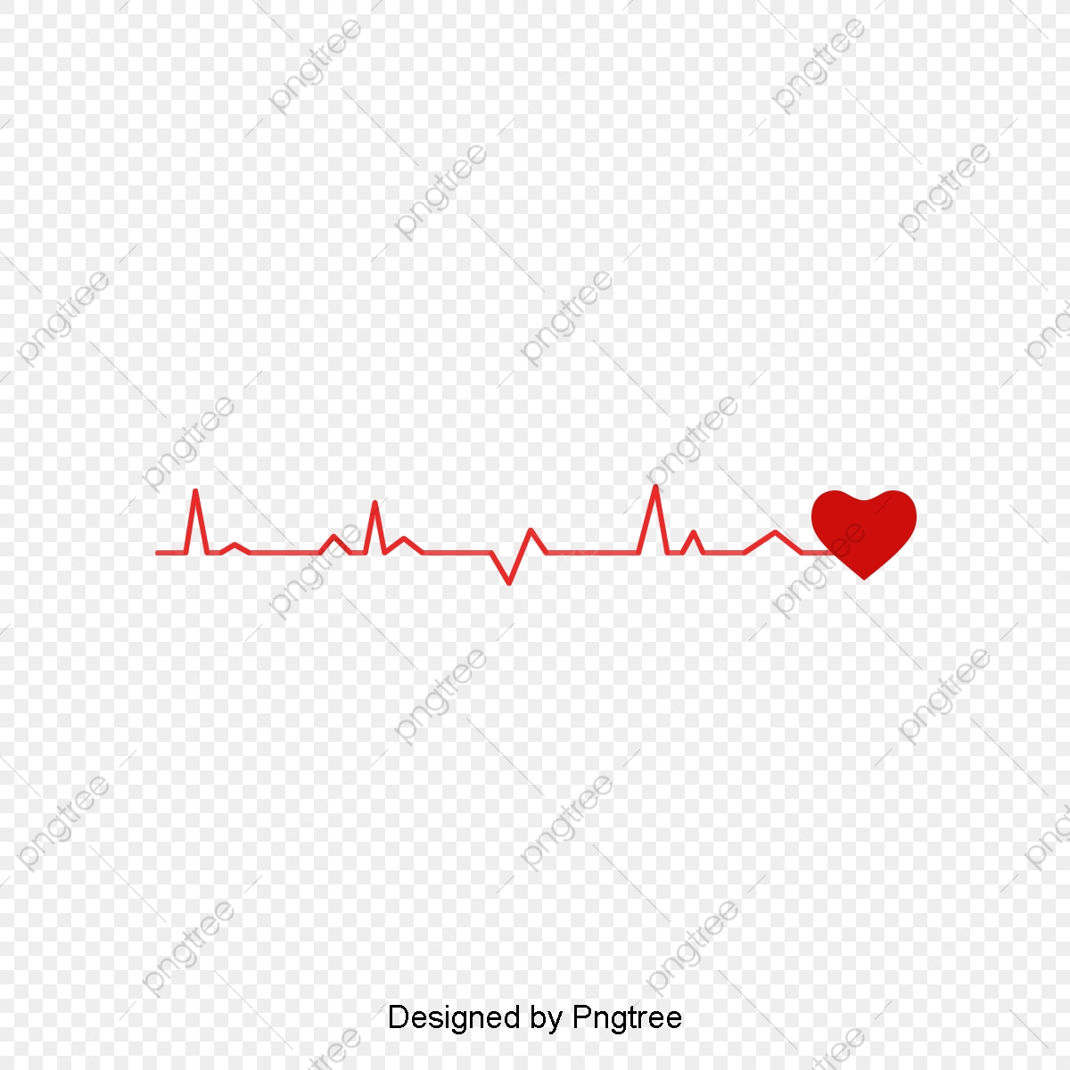Red Heart Line Chart, Red Lines, Public Welfare, Red Love