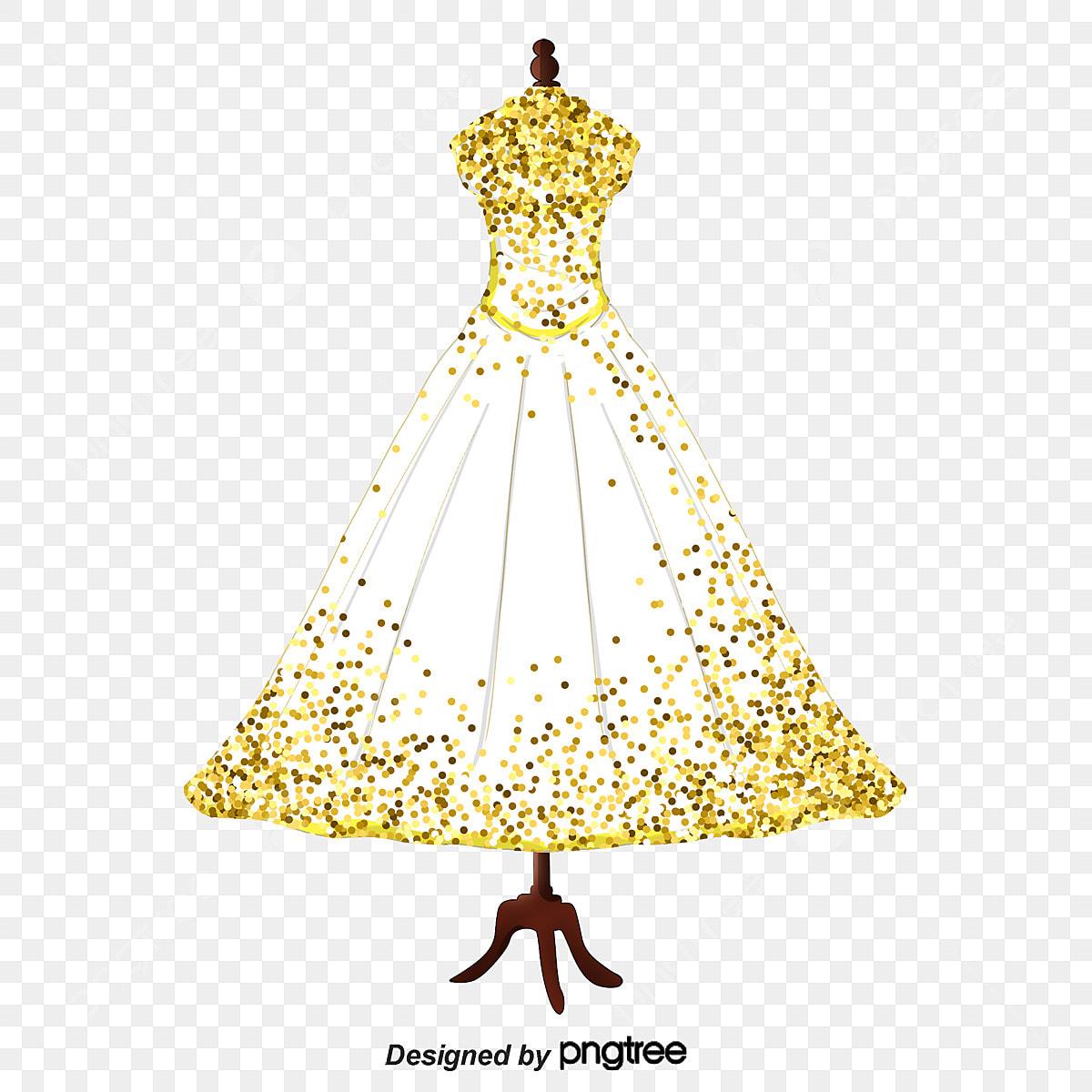 Gráfico De Vetor De Desenho De Vestido De Noiva Pintados à