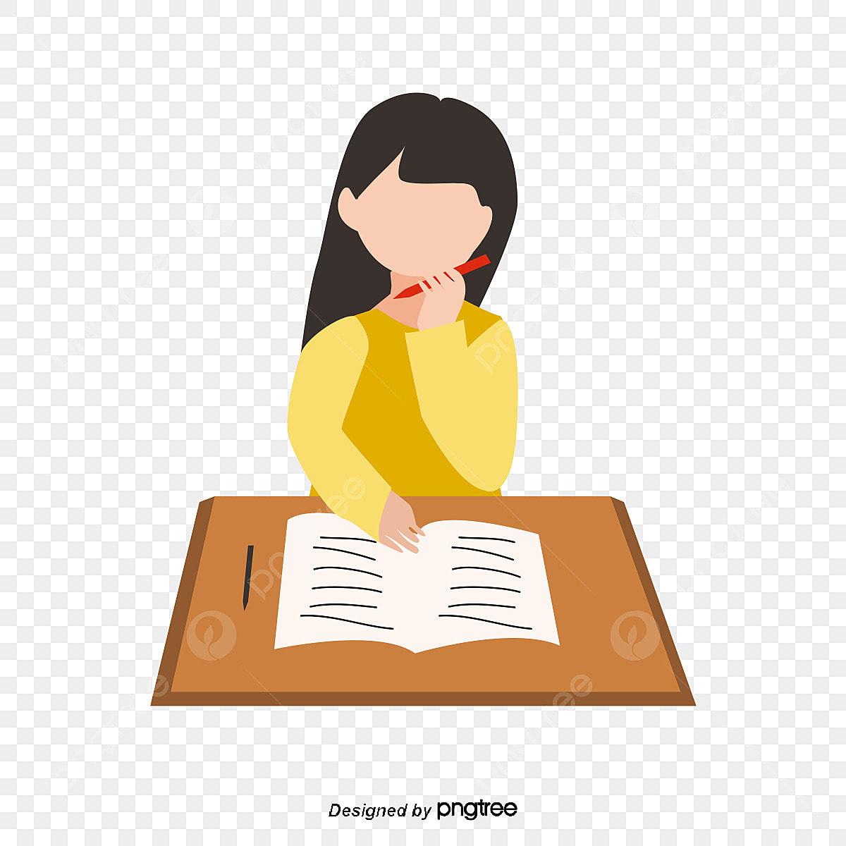Kerja Rumah Orang Kerja Rumah Kartun Pembelajaran