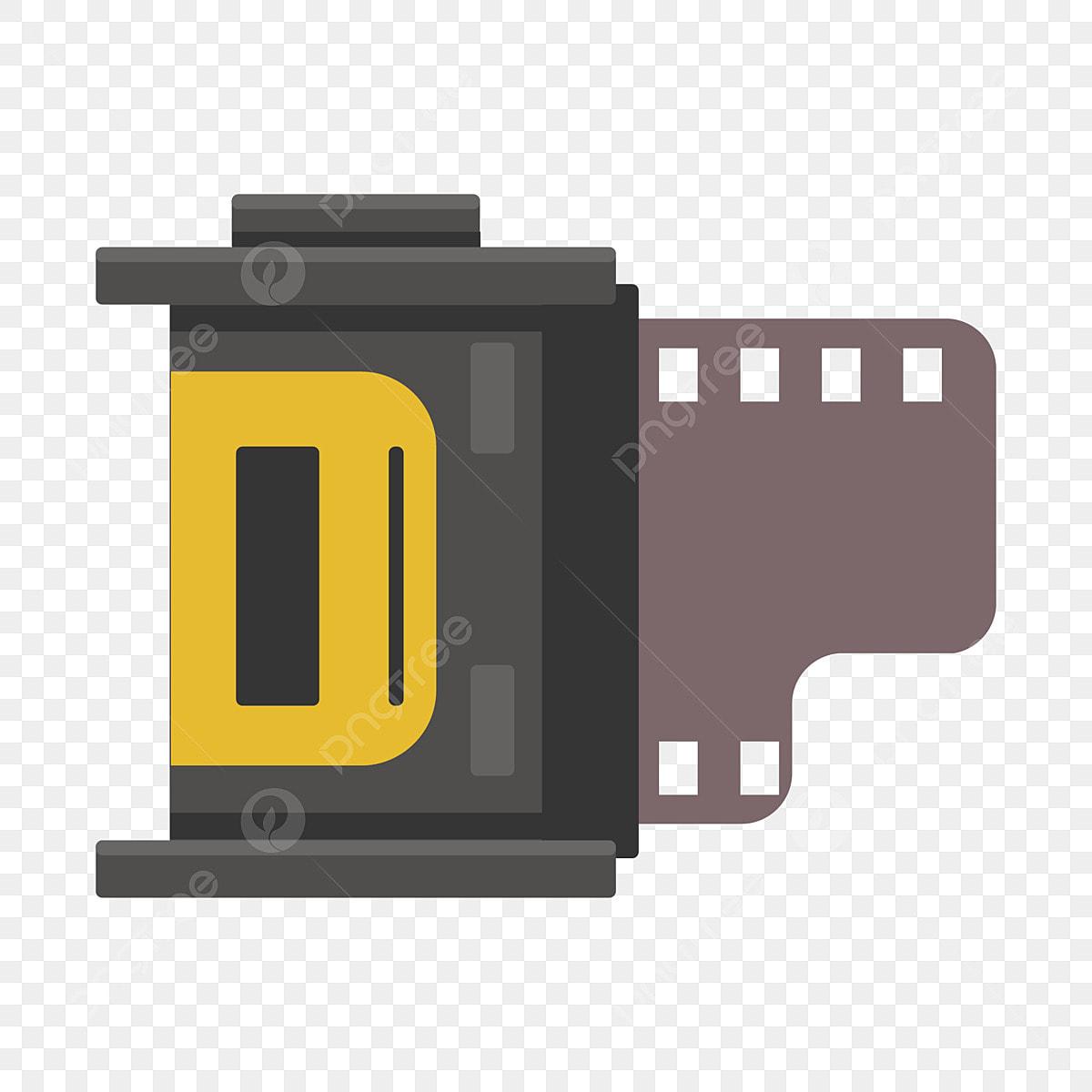 無料ダウンロードのための古い映画フィルムと巻物のイラスト 映画
