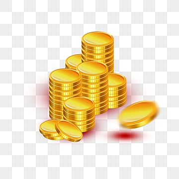 a pile of gold coins, Gloss, Texture, Metal PNG and PSD