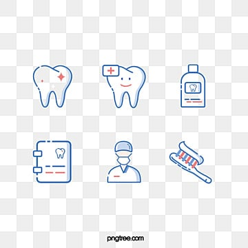 Blue Dental Medical Linear Icon, Medical Care, Stomatology Department, Tooth PNG and PSD