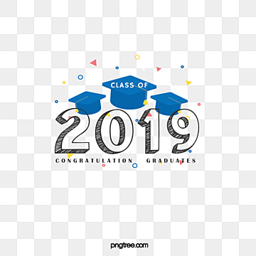 creative elements of blue graduation cap 2019, 2019, Bachelor Cap, Hand Painted PNG and PSD