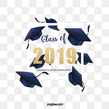creative elements of graduation hat border in 2019, 2019, Bachelor Cap, Square Box PNG and PSD