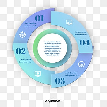 Gradual Circular Mosaic Information Graph, Information Map, Geometric, Business Affairs PNG and PSD