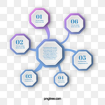Gradual Cyclic Geometric Mosaic Information Graph, Information Map, Hexagon, Geometric PNG and PSD