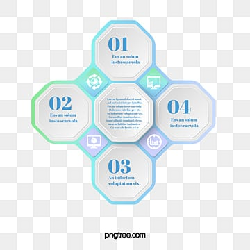 Gradual Cyclic Hexagon Business Information Map, Hexagon, Geometric, Business Affairs PNG and PSD