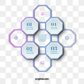Gradual Cyclic Hexagon Mosaic Information Graph, Information Map, Hexagon, Geometric PNG and PSD