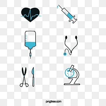Simplified Linear Department Icon of Medical Hospital, Simple Linear Icon Marking Stethoscope For Injection And Infusion In Medical Hospital Departments PNG and PSD