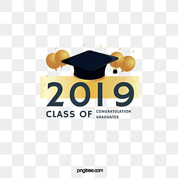 the creative elements of the golden graduation cap balloon in 2019, 2019, Bachelor Cap, Graduation PNG and PSD