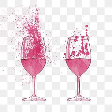 Watercolor Splash Wine Wine Cup, Spatter, Magnificent, Coloured Drawing PNG and PSD