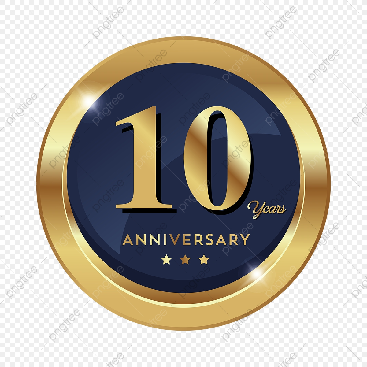 10th Anniversary Badge Logo Icon, Anniversary, 10 ...