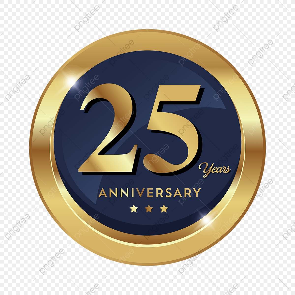 25th anniversary png th anniversary badge logo icon, anniversary,