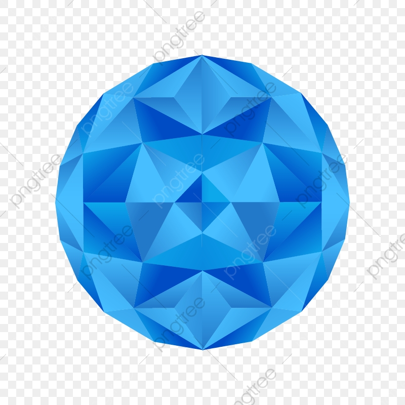 Abstract Colorful Poly Circle With Blue Tone Abstract Blue