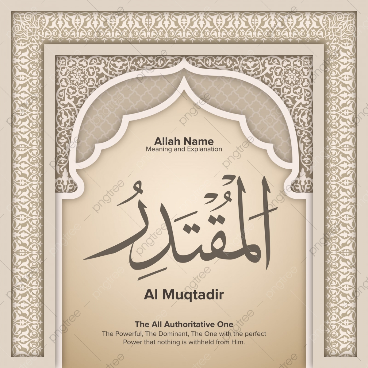 Al Muqtadir ,99 Names Of Allah With Meaning And Explanation, Al