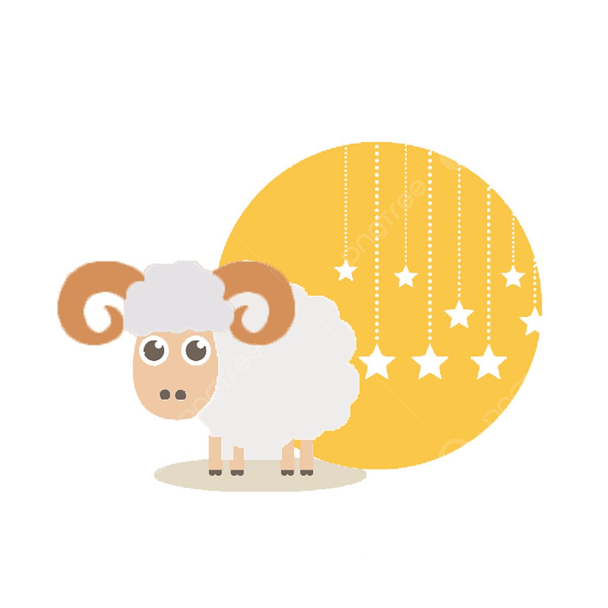 Sheep eid. Animal cartoon al adha
