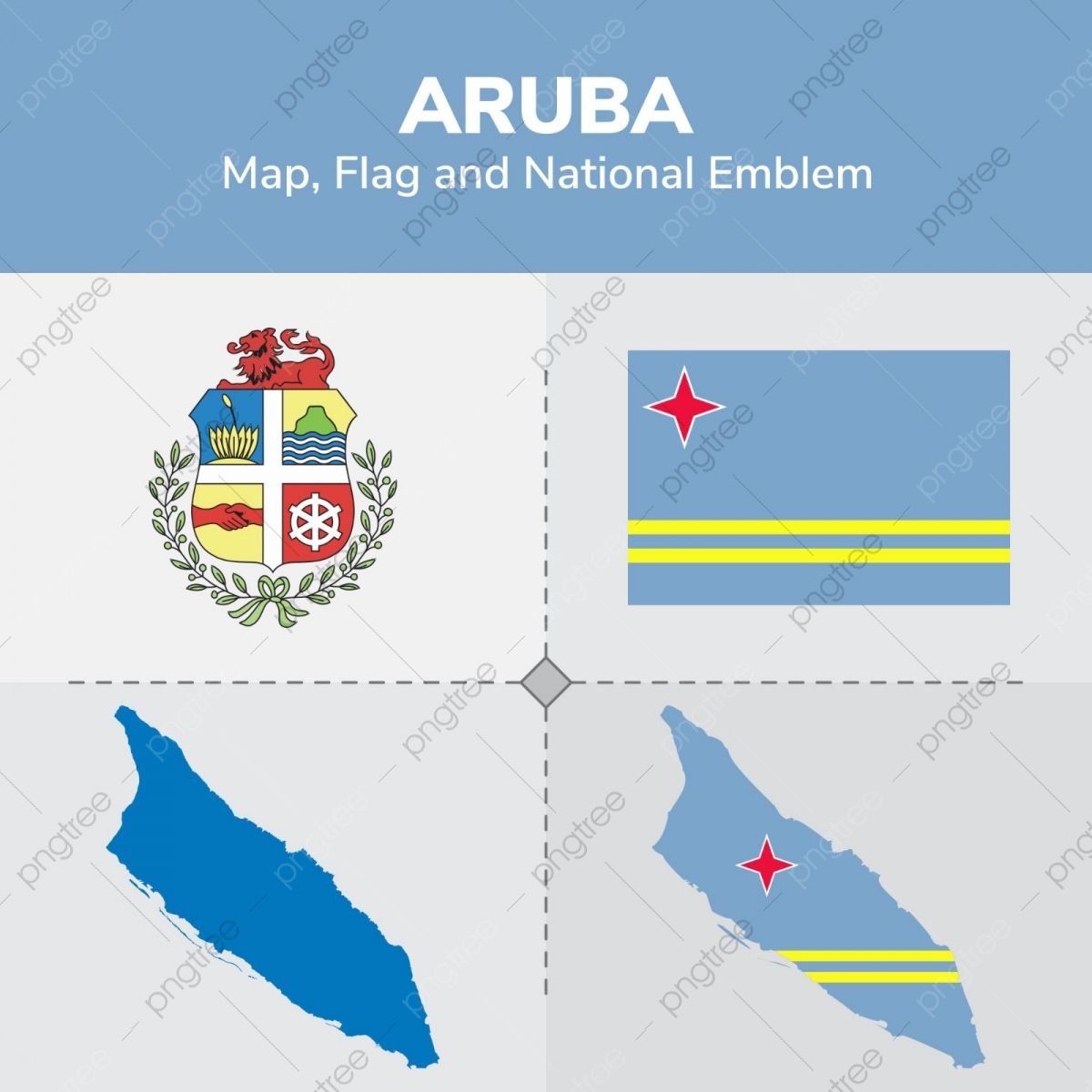 Aruba Map Flag And National Emblem, Continents, Countries ...
