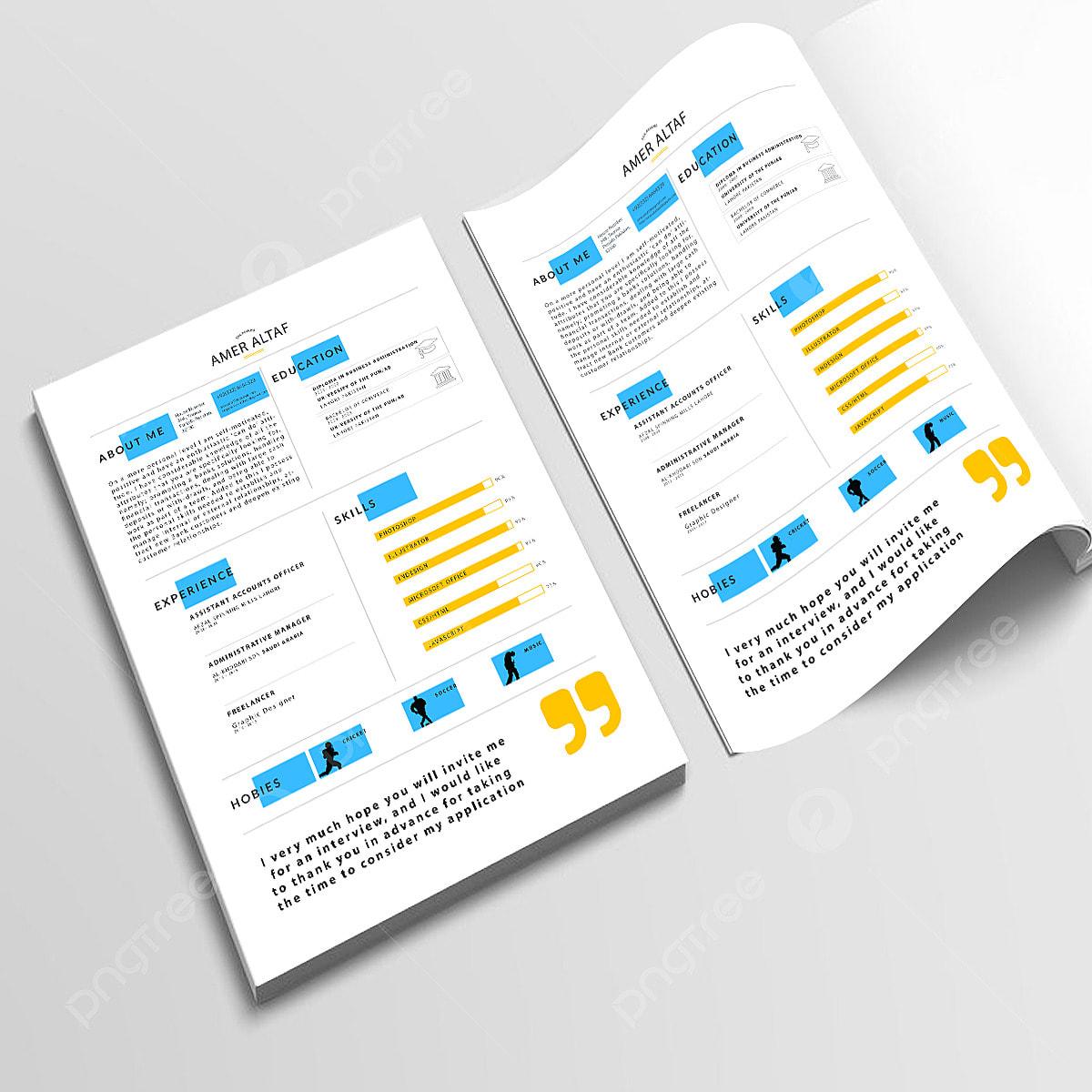Attractive Modern Resume Cv Template Resume Cv Templates