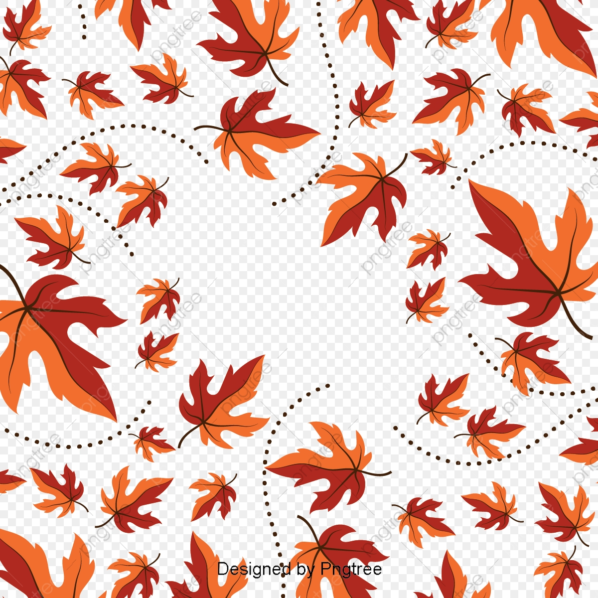 Beautiful Cartoon Cute Flat Hand Painted Autumn Leaf Wallpaper Leaf Autumn Leaves Png And Vector With Transparent Background For Free Download