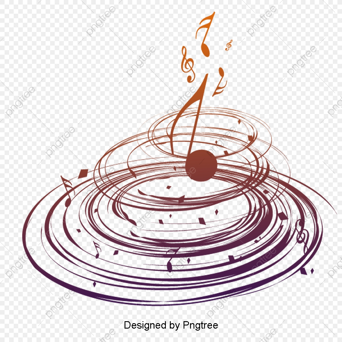 Beautiful Cartoon Hand Painted Music Symbol Staff Aesthetic Cartoon Hand Painted Png Transparent Clipart Image And Psd File For Free Download