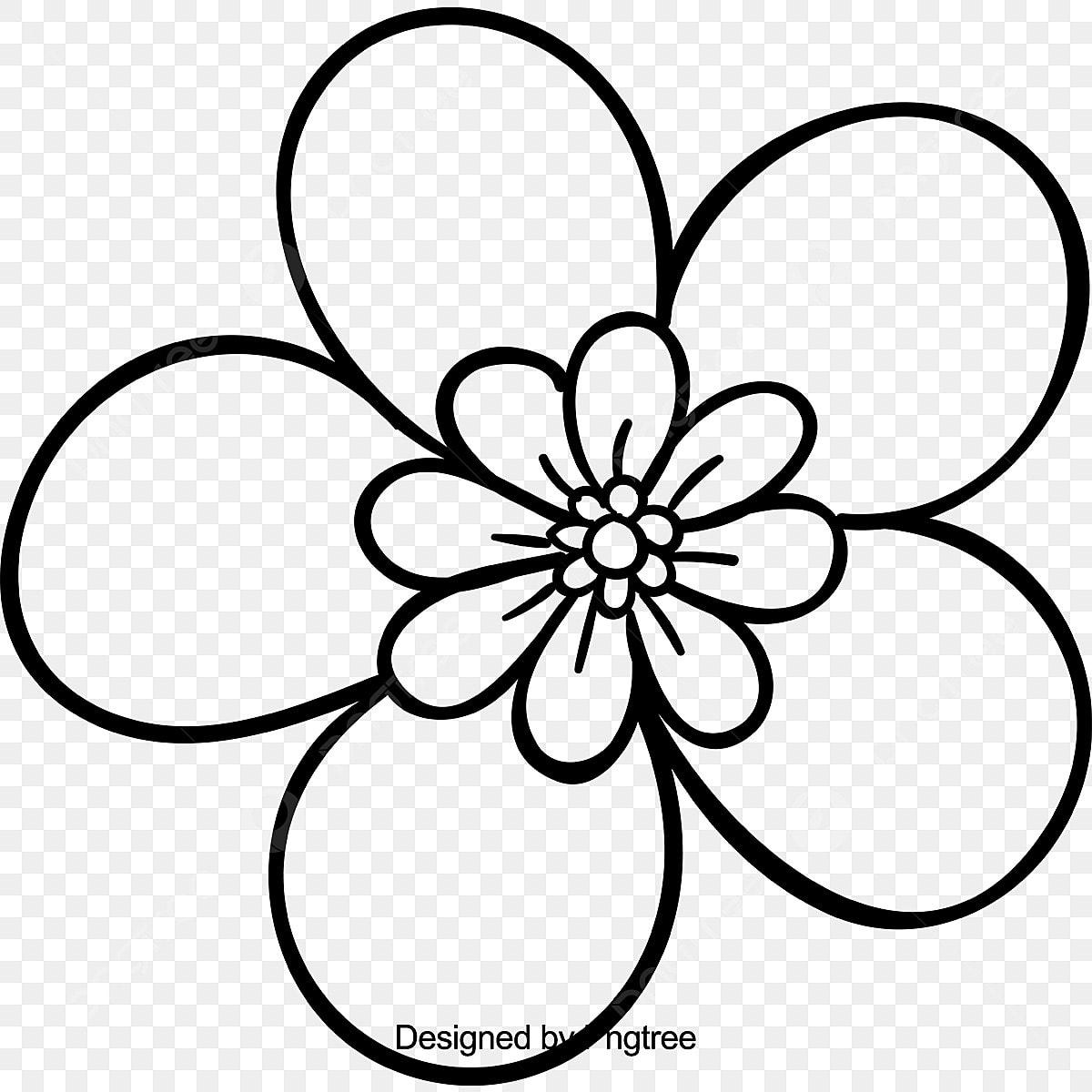 Lindo Desenho Mão Desenhando Flores Bonito Desenhos