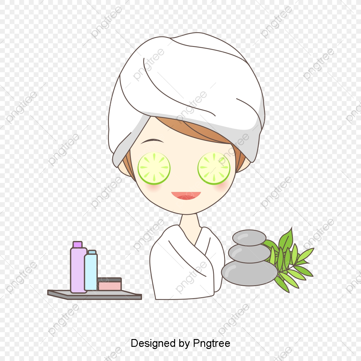 Beautiful Cartoon Lovely Hand Painted Beauty Beauty Skin Care Spa Health Skin Care Beauty Lemon Slices Png Transparent Clipart Image And Psd File For Free Download