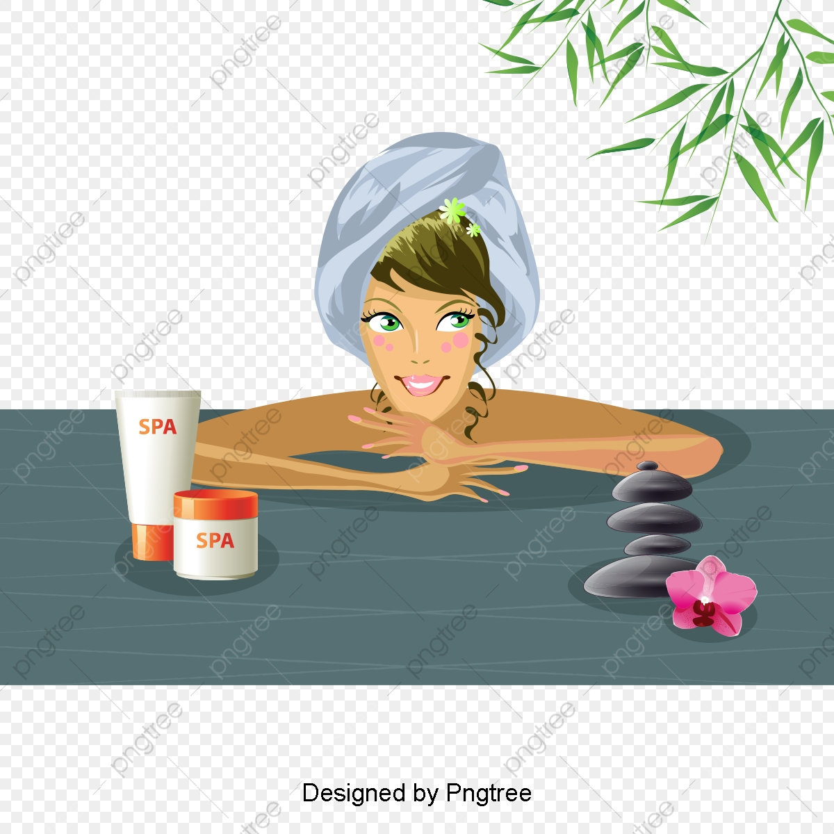 Beautiful Cartoon Lovely Hand Painted Beauty Beauty Skin Care Spa Health Aesthetic Cartoon Lovely Png Transparent Clipart Image And Psd File For Free Download