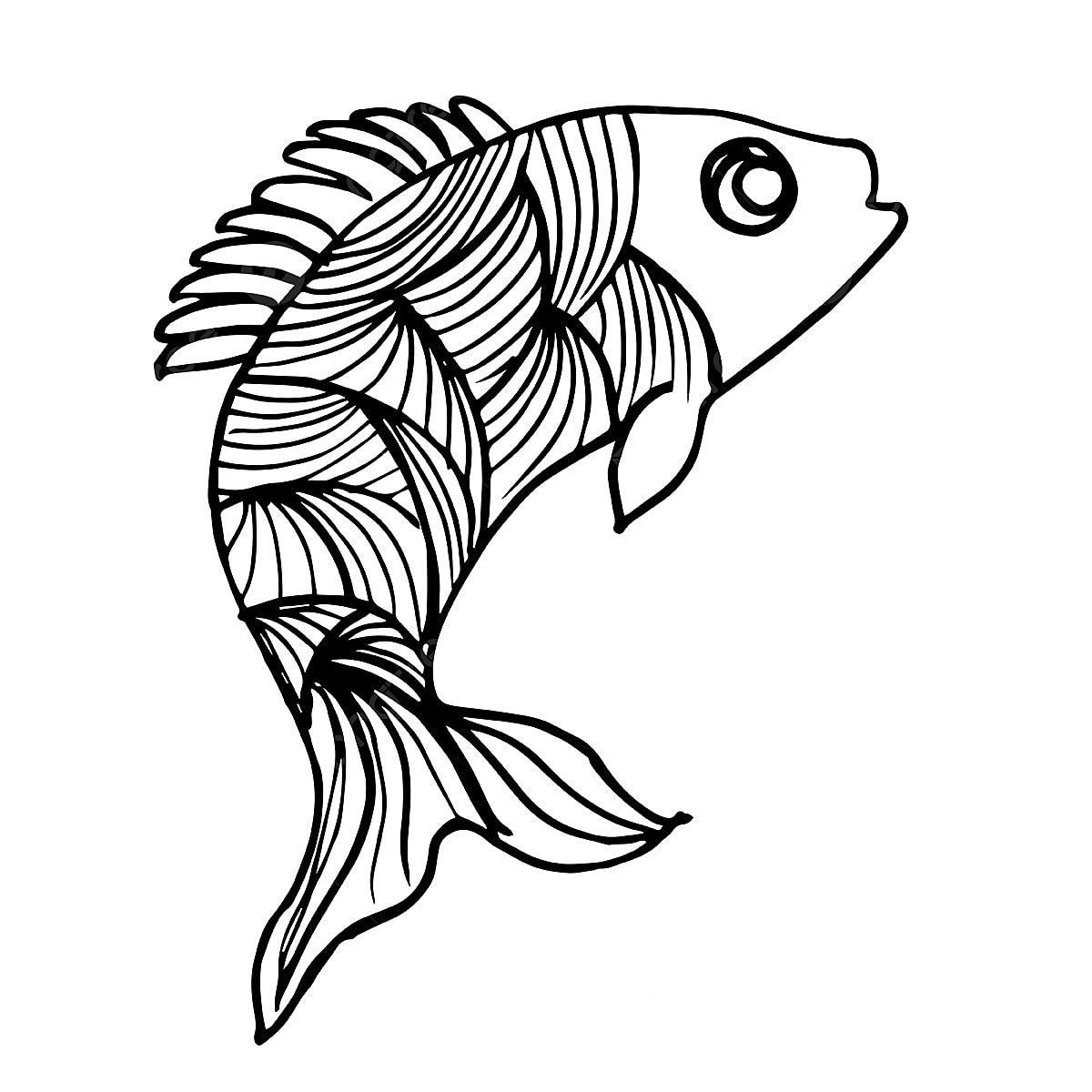 belle main poisson noir et blanc part appel u00e9e noir png et vecteur pour t u00e9l u00e9chargement gratuit