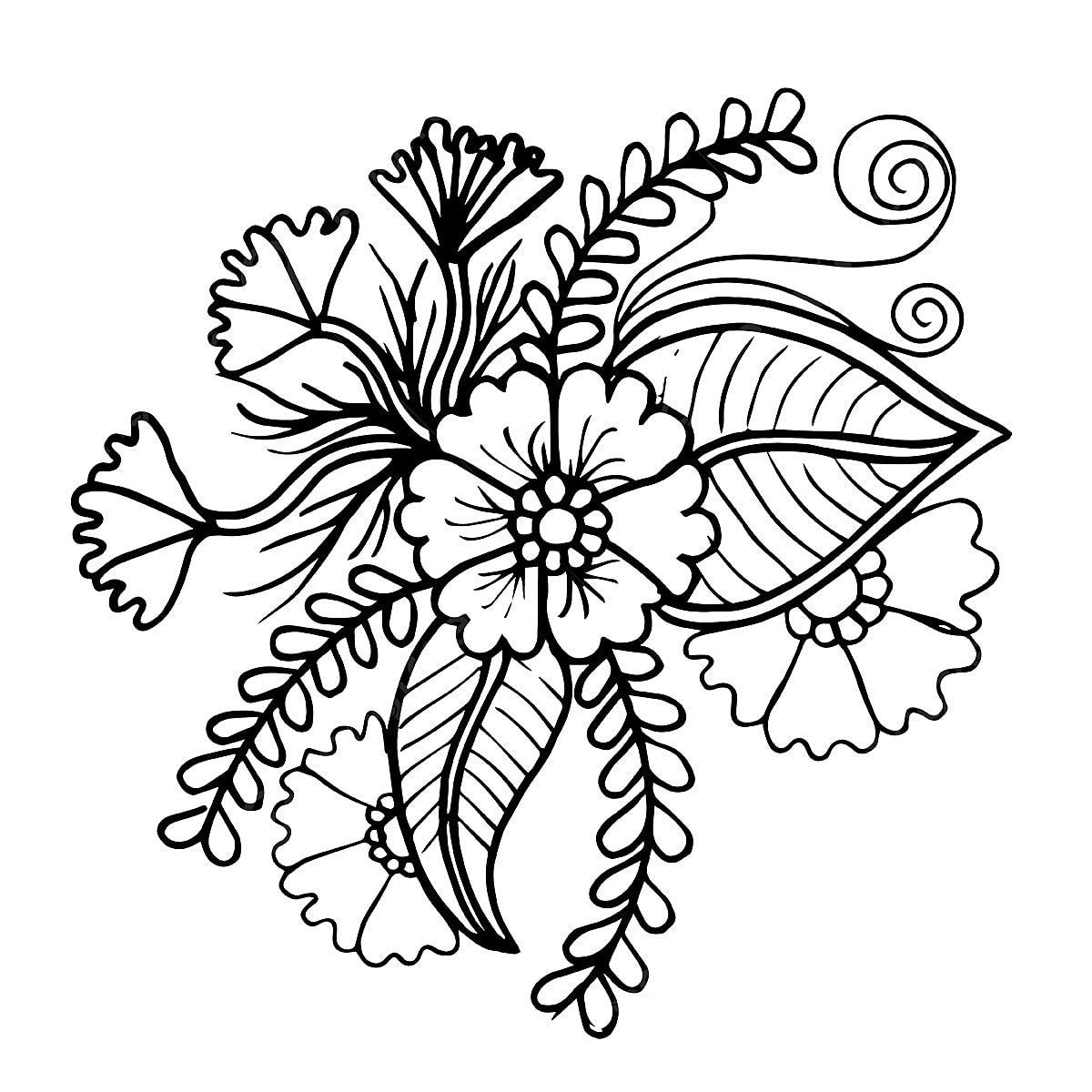 Gambar Bunga Hitam Putih Png Vektor Psd Dan Clipart Dengan Latar Belakang Transparan Untuk Download Gratis Pngtree