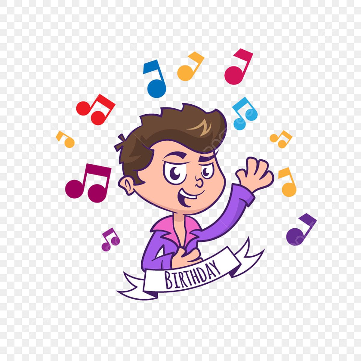 Carte D Anniversaire Avec Garcon Mignon Et Musique Anniversaire La Musique Heureux Png Et Vecteur Pour Telechargement Gratuit