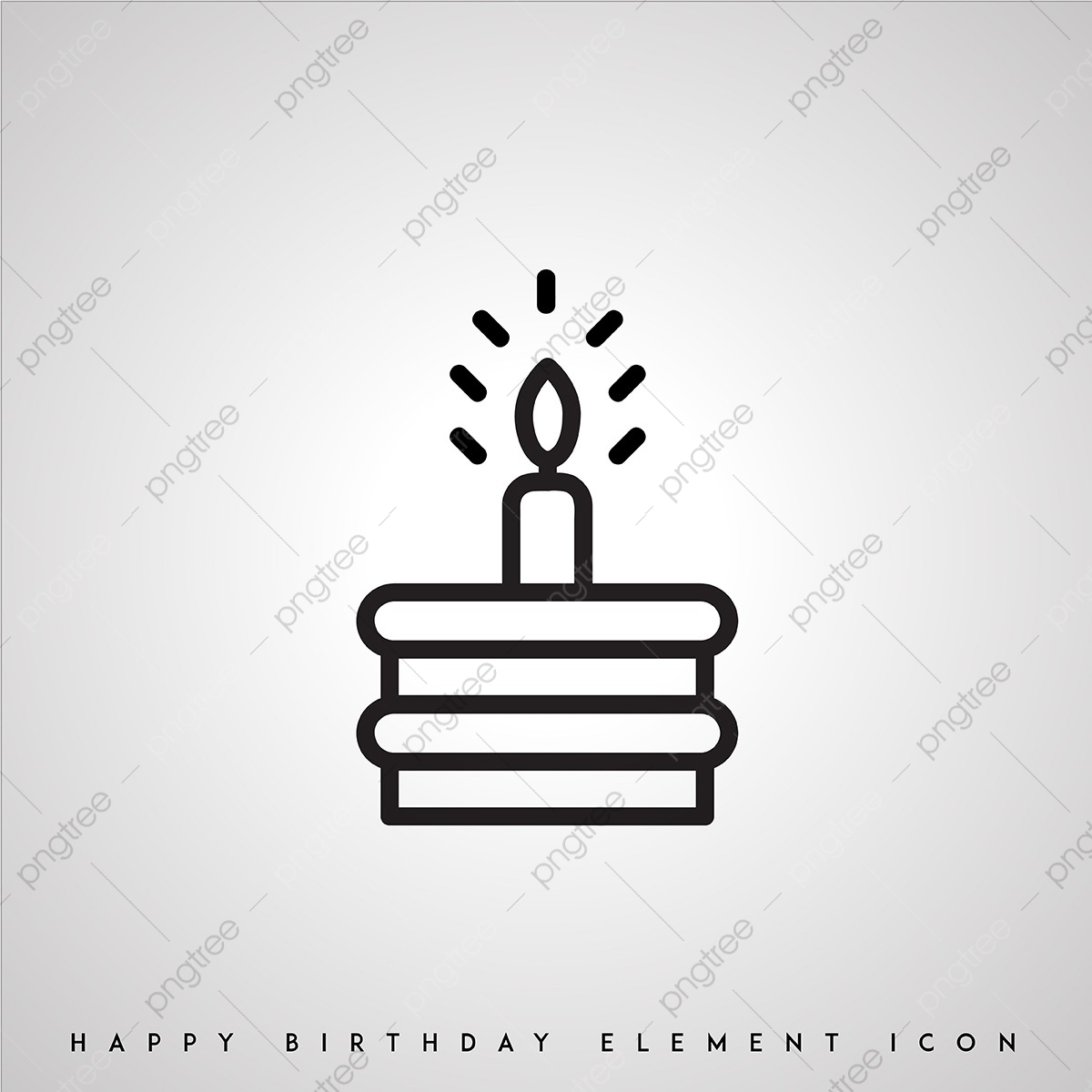 Schwarz Weiß Geburtstag Ikonen Icon Birthday Cake Png Und