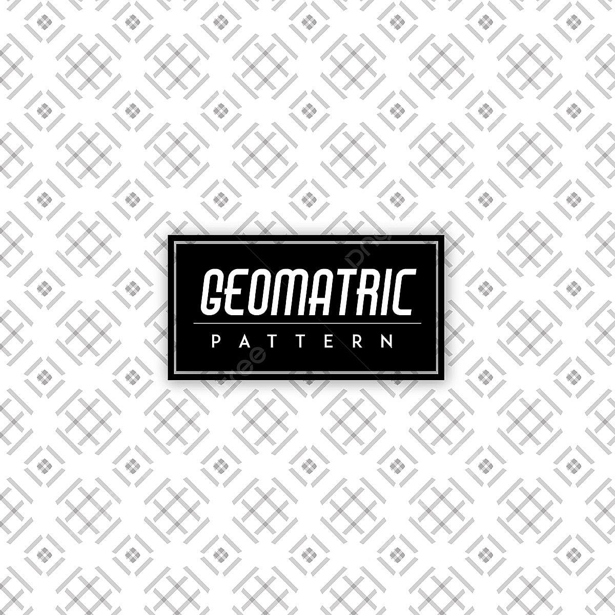 Hitam Dan Putih Geomatric Lancar Pola Latar Belakang Corak