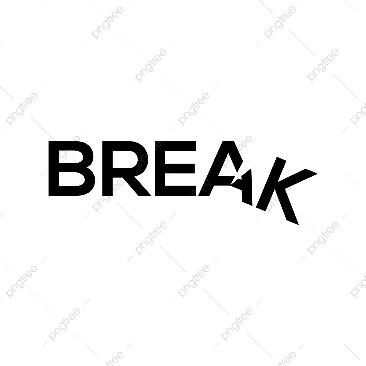 Break Word Art Design, Word Art Design, Break Design PNG and
