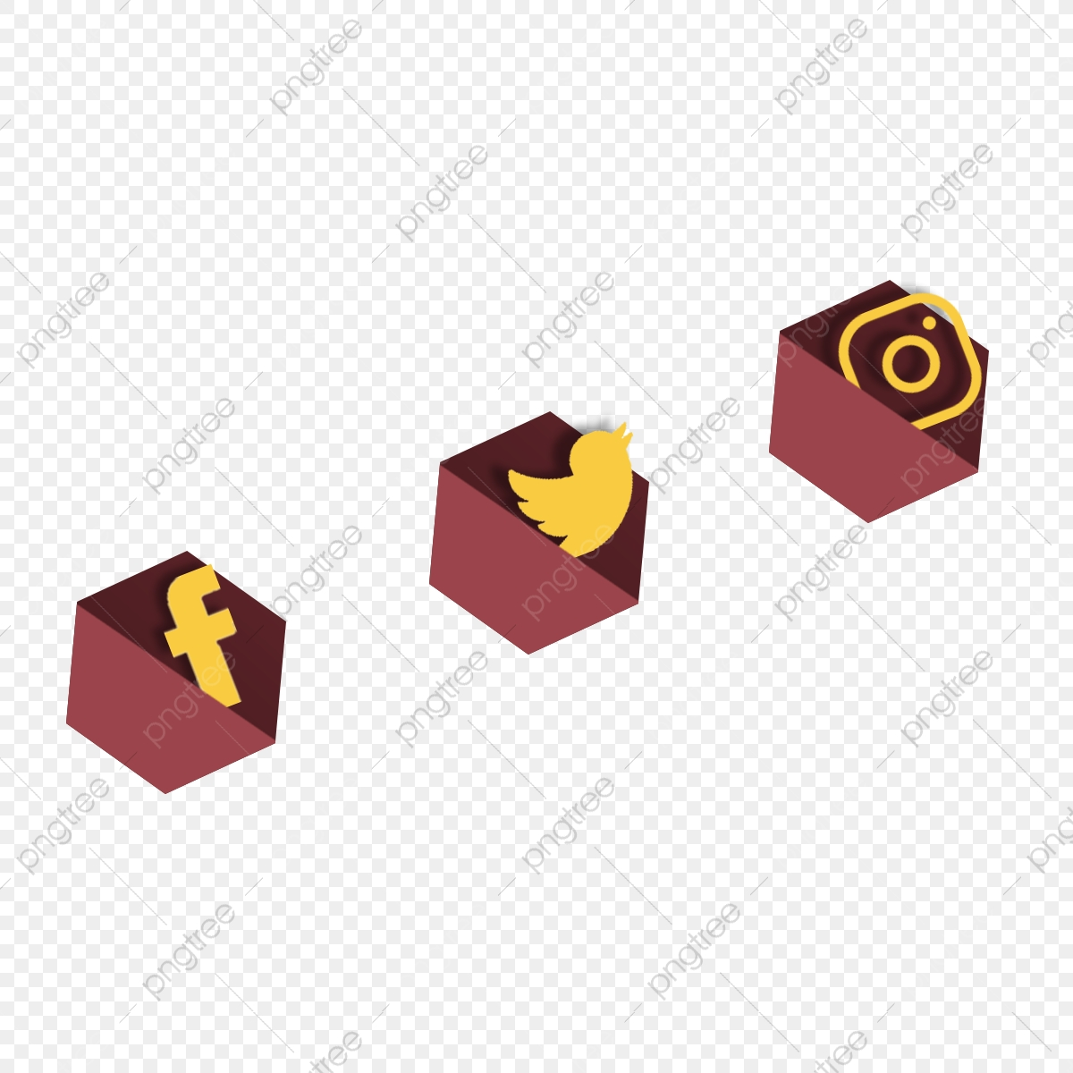 Brown Social Media Icons, Facebook, Twitter, Instagram PNG Transparent  Clipart Image and PSD File for Free Download