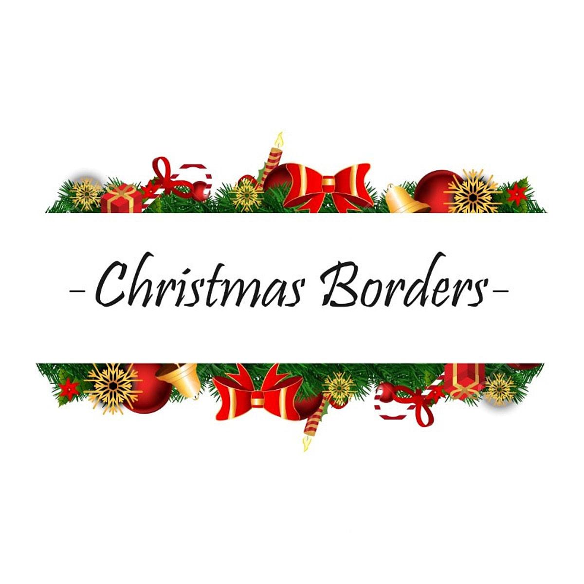 Christmas Border, Christmas Vector, Border Vector