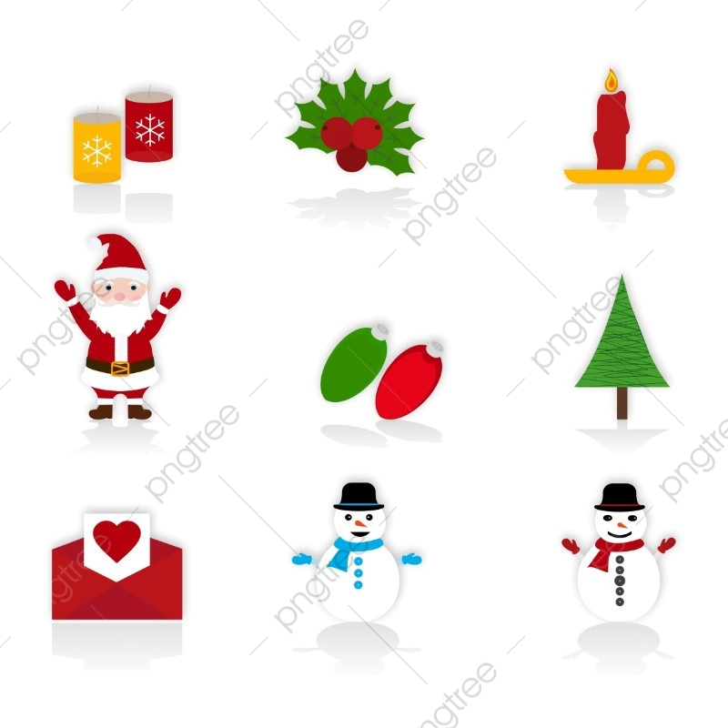 Christmas Icons Png.Christmas Icons Set Christmas Vector Decoration Merry Png