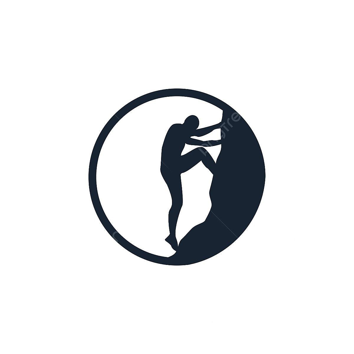 logo de l u0026 39 escalade silhouette cercle  l u0026 39 escalade  rock