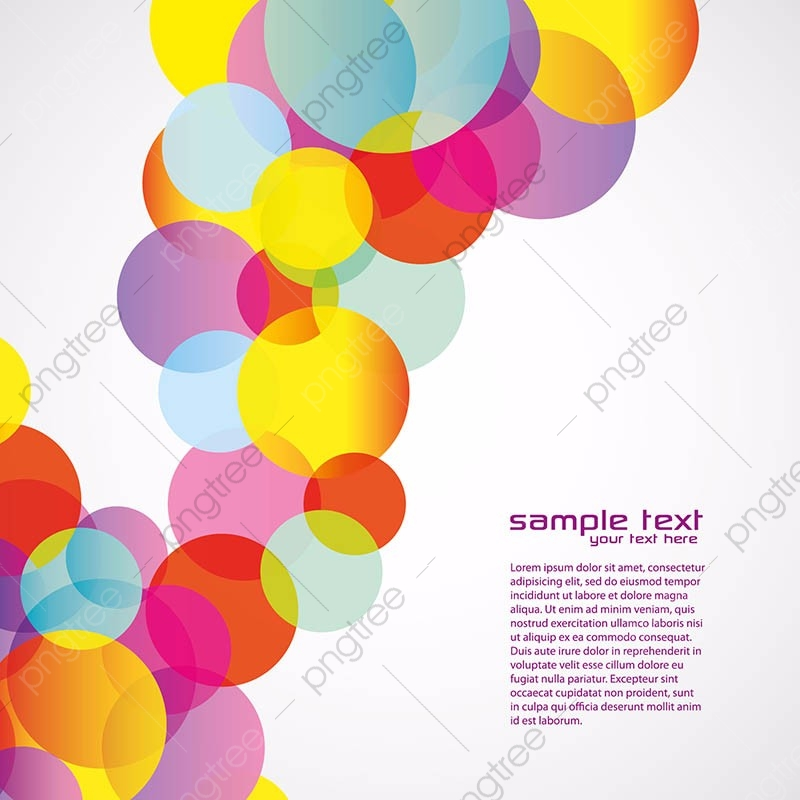 Colorful Abstract Background Colorfulness Circle Design