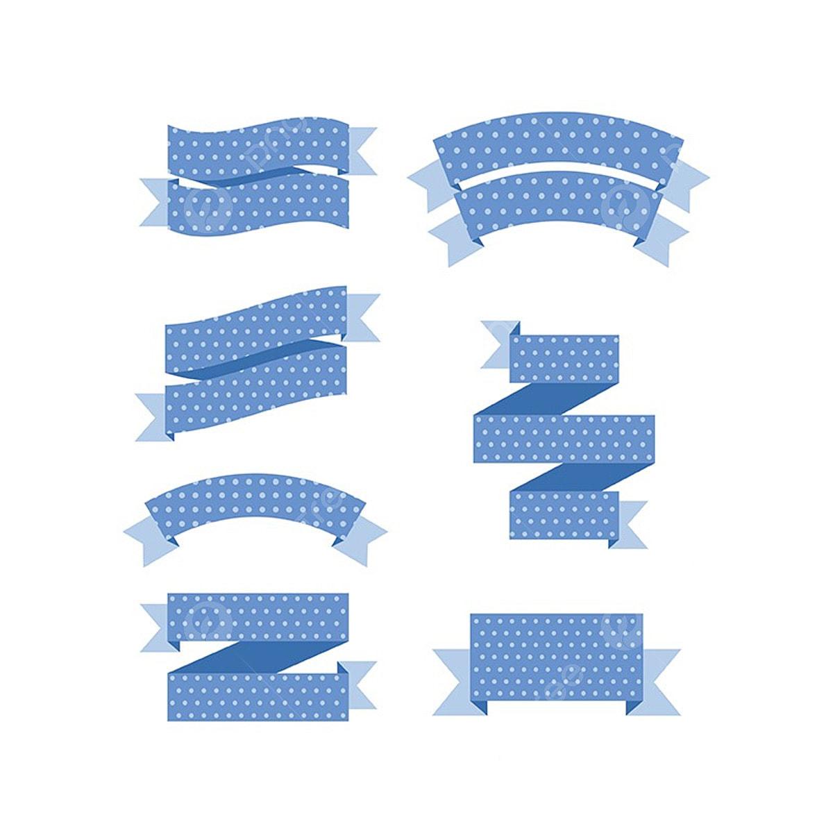 joli ruban banner plat banner bleu png et vecteur pour