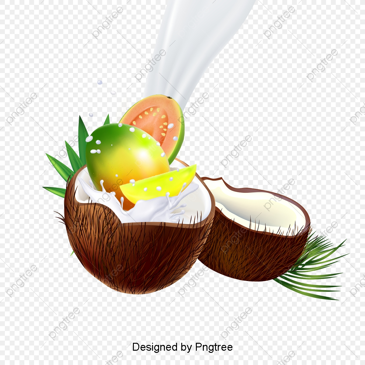 Delicious Coconut Creative Material Design, Coconut, Coconut