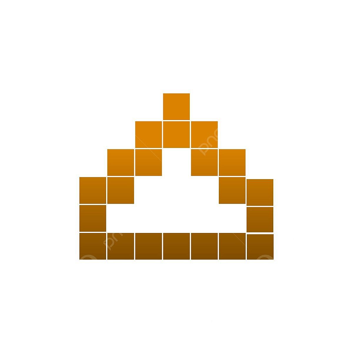 Modèle élégant Pixel Art Temple Vecteur élégant Forme Art