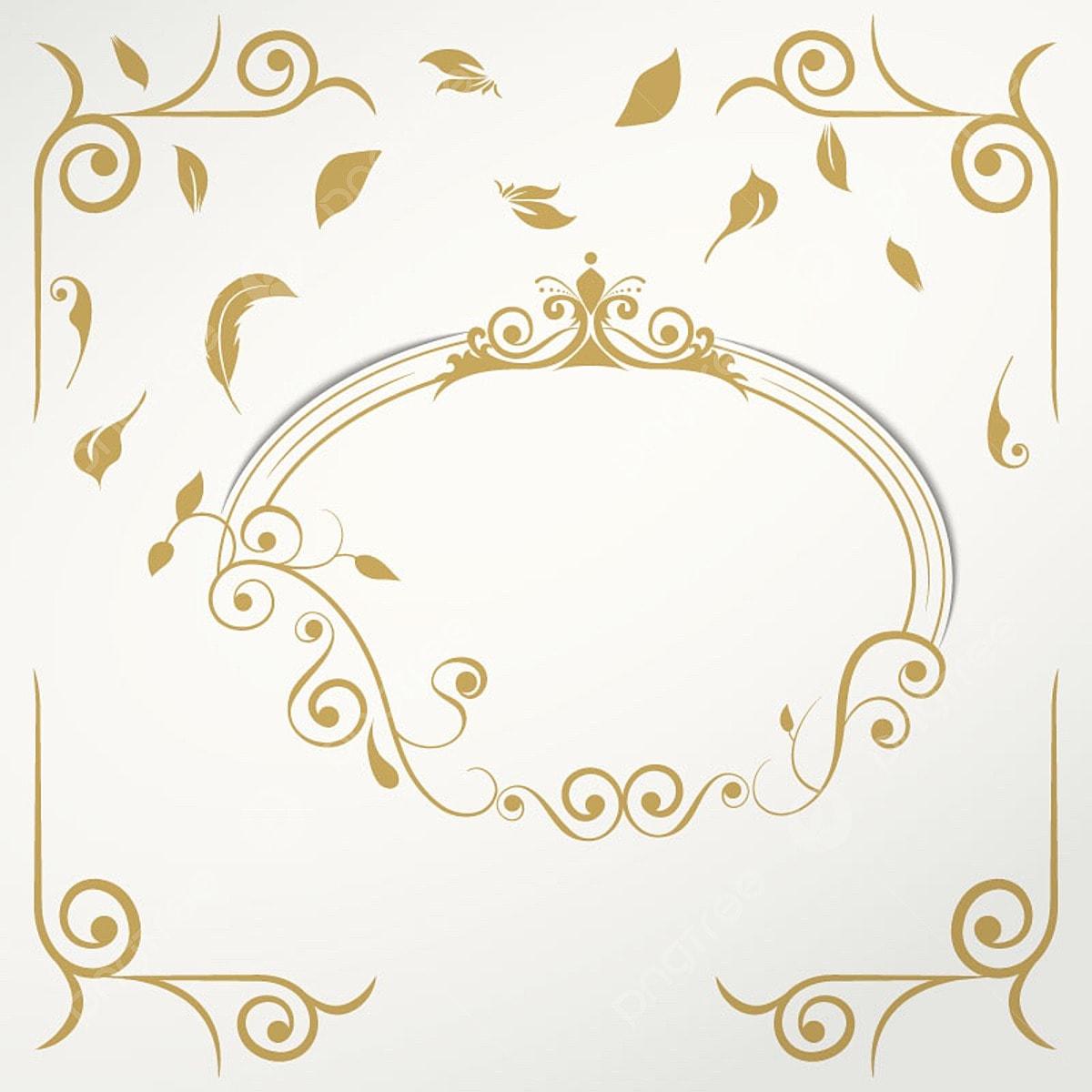 Elegant Wedding Invitation Background Ornament Frame Png