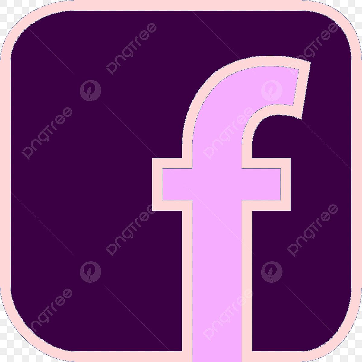 ايقونة فيس بوك Facebook Icon Facebook Icon Pink Purple Icon